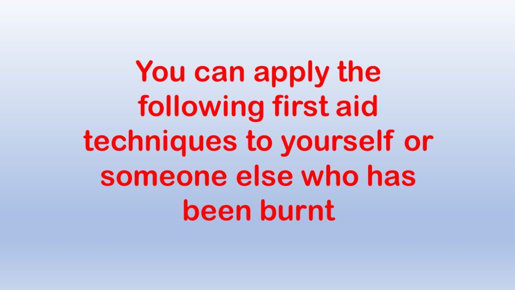 © Remote First Aid Burns