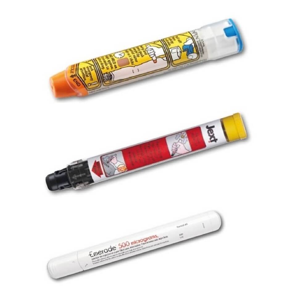 UK Approved AAI pens for use in Anaphylactic Reactions.