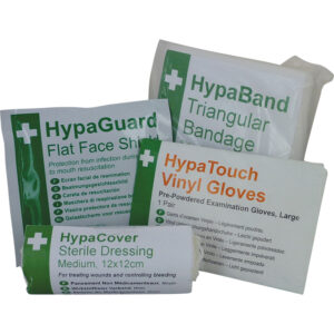 First aid trainer packs.